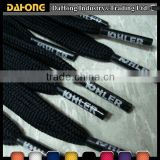 new products 4mm black cotton cord with custom printed aglets                                                                         Quality Choice