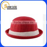 cheap custom 2014 new style fashion cotton jute summer baby flax straw hat                                                                         Quality Choice