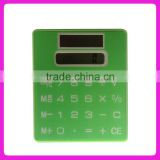 Hot sale Mini slim card touch screen pocket calculatorc&Card shape solar power calculator