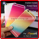 Colorful Stickers for iPhone 6 Plus, Fashion Gradient Screen Protect Films for iPhone 6 & 6 Plus 4.7 & 5.5 inch Decal Sticker