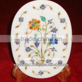 Designer Marble Stone Inlay Plate Antique Art Work