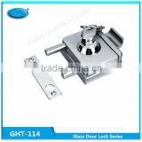 Supply high quality single glass door lock, GHT-114 sliding glass door key locks with brass cylinder