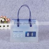 beverage pp plastic packaging bag plastic tote bag custom shape transparent packaging bag for drink