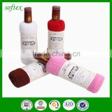 gift wedding cake towel bottle shaped of wine                                                                         Quality Choice
