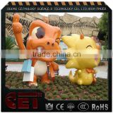 cartoon figures sculpture fiberglass animal life size n Artificial Crafts decoration for shopping mall