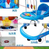 2015 new design baby walker with pushing hands