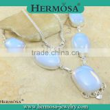 Hermosa Jewelry HOT SALE Natural Opal Mystical Gems Pendant Necklace In Silver Jewelry Fashion Accessories
