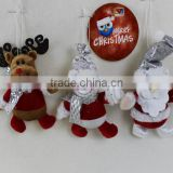 Hot Sale New Hanging Christmas Doll Ornaments Elk Xmas Tree Holiday Party Home Decoration Gift For Children