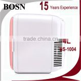 2016 BOSN 4 Liter bule and white cooler and warmer 12v 220v portable refrigerator with best price