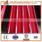 hot sale PPGI roofing sheet china supplier long span color coated corrugated steel roofing sheet