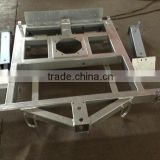 OEM steel sheet Metal Structural hot galvanized steel trailer frame fabrication using for Portable Traffic Lights
