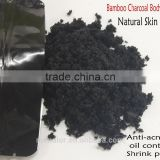 Mendior Natural Activated charcoal scrub face exfoliating black bamboo powder dry body scrub dead skin,OEM custom brand,200g