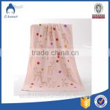 Promotional cheap stock cotton hand towel and bath towel, bath towel printed cartoon pattern