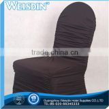 Waterproof Spandex Chair Cover for Wedding wholesale lycra black chair cover with arch in the bottom