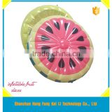 small quantity order available hot sale fruit inflatable float island , lagre inflatable pool float