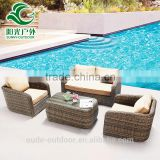 Top grade wholesale rattan wicker furniture soft rattan sofa set factory price