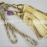 home decoration ball tassel fringe,curtain tiebacks