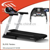 Indoor fitness equipment with high end motorized fitness treadmill with speed control buttom