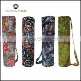 Hot Sale Custom Logo Cheap Yoga Mat Bags in batik print fabric