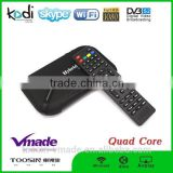 Amlogic S805 Quad Core Set Top Box DVB-S2 Receiver TV Box 1GB RAM 8GB ROM quad coreV8plus android tv box+ dvb t2