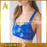 Custom made breathable sports bra, women contrast gym bra, fitness YOGA bra