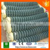 ISO9001China pvc coated stainless steel wire mesh chain link fence rubber/black powder coated chain link fence