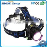 1800 Lm XM-L T6 Focus LED Headlamp Headlight Head Torch Lamp Front Lamp Camping Hiking Light With AC Charger + Car Charger