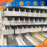 Hot large electric conduction curtains pipes, aluminum profile rods foshan curtain wall system