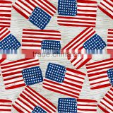 Newest hot sales America map pattern design printed tablecloth with straight/wave/lace edge
