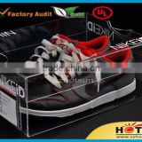 2015 Clear plexiglass shoe box, baby shoe box packaging, sneaker shoe box / shoe display box