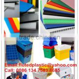 Collapsible polypropylene corrugated plastic moving boxes