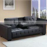 Black leather sofa bed storage with simple design sofa bed