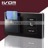 Hotel Room RFID Card Key Power Switch, Energy Saving Switch, 190V - 250V with light switch stainless frame