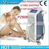HOT top quality 10 laser bar professional laser hair removal machine with imported water pump PZ606