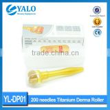 Home used 200 pins titanium derma roller /200 pins titanium derma roller microneedle therapy system