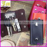 2014 Hot Men Women's Fashion Genuine Cow Leather Key Holder Wallet Mini Keychain Bag For Promotion Gifts