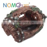 Nomo Antique Unique Simulation Aquarium Resin Barrel Wreckage Ornament for Fish Tank Furnishing