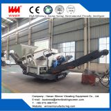 Crawler moving crushing station, mobile crushing stone plant