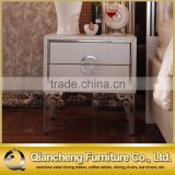 Mirrored bedside table with cabinet italy design