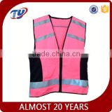 ansi pink reflective safety vest horse riding with zipper