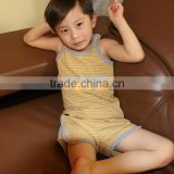 CCO232 Baby summer striped vest and shorts clothes 100% cotton two pieces baby clothes boy clothes