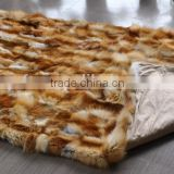YRFUR YR023 Patchwork Fox Fur Blankets 120cm*220cm/Hot Sale High Quality Custom order welcome