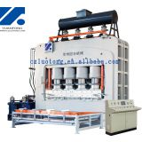 Melamine press machine for particle boards