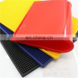 Factory direct supply anti-slip square colorful soft pvc bar mat for bar accessories