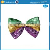 Mardi Gras Party Sequin Bow Tie Decoration