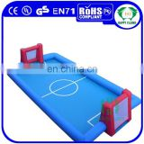 HI outdoor playground pvc inflatable soap football field, adult game football field floor