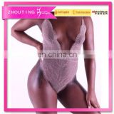 Black Grommet Lace Up Arab Women Sexy Teddy Lingerie Bed Wear