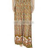 Unisex Trouser Yoga palazzo Harem Pants Baggy pants Indian Elephant Leaf Print Palazzo pants Multi Gypsy boho Hippie pant