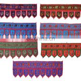 Home Decorative Beaded Sitara Toran Emb Door Hanging Mirror Work Toran Window Valance Topper Toran door hanging wholesale art