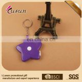 fashion plastic tape measure keychain for promotion